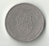 Tunisia,1/2 Dinar 2009 - Tunisia