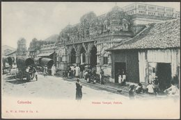 Hindoo Tempel, Pettah, Colombo, Ceylon, C.1905  - Plâté U/B Postcard - Sri Lanka (Ceylon)