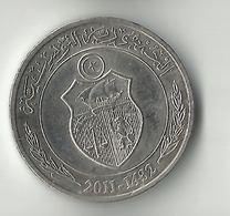 Tunisia,1/2 Dinar 2011-1432 - Tunisie
