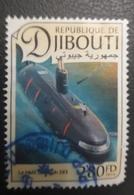 DJIBOUTI 2016 LE HMS TRIUMPH S93 593 ? SUBMARINE - USED OBLITERE CANCELED OBL U O RARE - Djibouti (1977-...)