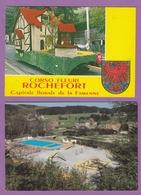2 CARTES DE ROCHEFORT:PISCINE/PLAINE DE JEUX ET CORSO FLEURI. - Rochefort