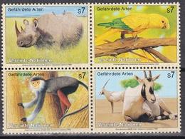 Ei_ UN UNO Wien - Mi.Nr. 180 - 183 - Postfrisch MNH - Kleinbogen - Tiere Animals - Blocks & Kleinbögen