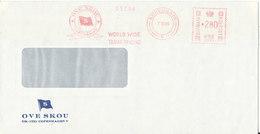 Denmark Cover With Meter Cancel Copenhagen 7-10-1986 (Ove Skou World Wide Tramp Trading) - Denmark