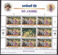 Ei_ UN UNO Wien - Mi.Nr. 218 -  219 - Postfrisch MNH - Kleinbögen - Unicef - Blocs-feuillets