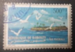 DJIBOUTI 1998 MICHEL MI 673 ILE MASKALI ISLAND BIRDS OISEAUX TOURISM - USED OBLITERE CANCELED OBL U O RARE - Djibouti (1977-...)