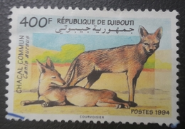 DJIBOUTI 1994 MICHEL MI 604 CHACAL COMMUN - USED OBLITERE CANCELED OBL U O RARE - Djibouti (1977-...)