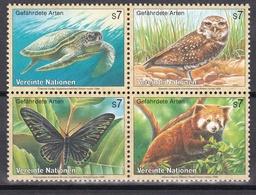 Ei_ UN UNO Wien - Mi.Nr. 248 -  251 - Postfrisch MNH - Kleinbogen - Tiere Animals - Blocs-feuillets