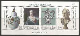 Sweden - 1979 Rococo S/sheet MNH **   Mi BL7  Sc1298 - Blocks & Sheetlets