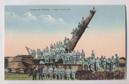 CANON De 400 M/m - Les Soldats Sur Le Canon - Camp De Mailly - Animée - Matériel