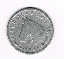 &  MALI  10 FRANCS MALIENS 1961 - Monnaies
