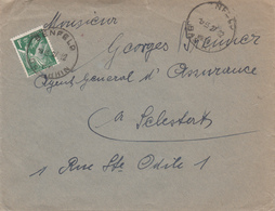 Env Affr Y&T 432 Obl BENFELD Du 12.12.1938 Adressée à Sélestat - 1877-1920: Semi-moderne Periode