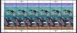 Ei_ UN UNO Genf - Mi.Nr. 213 - 214 - Postfrisch MNH - Kleinbögen - Tiere Animals - Geneva - United Nations Office