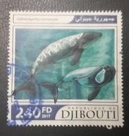 DJIBOUTI 2017 FISH FISHES POISSONS WHALES WHALE BALAINES - USED OBLITERE CANCELED OBL U O RARE - Djibouti (1977-...)