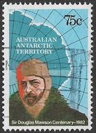 Australian Antarctic Territory SG54 1982 Birth Centenary Of Sir Douglas Mawson 75c Good/fine Used [16/14956/6D] - Australian Antarctic Territory (AAT)