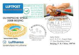 Vol Spécial Bonn Pekin Olympic Expo - Lufthansa 08/08/08 - Ete 2008: Pékin