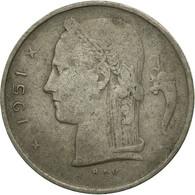Monnaie, Belgique, Franc, 1951, TB, Copper-nickel, KM:143.1 - 1945-1951: Regency