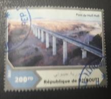 DJIBOUTI 2017 PONTS PONT BRIDGES BRIDGE HOLL HOLL ARCHITECTURE- USED OBLITERE CANCELED OBL U O RARE - Djibouti (1977-...)