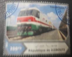 DJIBOUTI 2017 TRAINS TRAIN- USED OBLITERE CANCELED OBL U O RARE - Djibouti (1977-...)