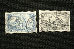 Allemagne Reichspost N°62/63 Oblitérés - Used Stamps