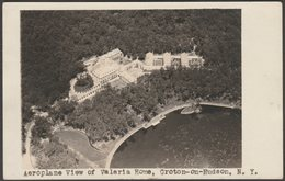 Aeroplane View Of Valeria Home, Croton-on-Hudson, New York, 1933  - RPPC - NY - New York