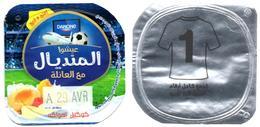 """Opercule Cover Yaourt Yogurt """" Danone """" Mondial Russia 2018 - N°1 - Yoghurt Yoghourt Yahourt Yogourt Scan Recto/verso - Opercules De Lait"""