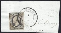 Fragment De Lettre Guillaume III, 1856-59 ,10 Centimes Gris/noir, Cachet Rédange, Catalogue Michel 2017: 1d (2scans) - 1852 Willem III