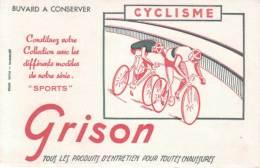 BUVARD - Collection Sports - CYCLISME - Coureurs Cyclistes Sur Leurs Vélos - BUVARD GRISON - Moto & Vélo