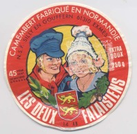 Etiquette De Camembert - LES DEUX FALAISIENS - Fabriqué En Normandie - Silly En Gouffern - Exmes - Fromage
