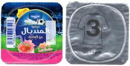 "Opercule Cover Yaourt Yogurt "" Danone "" Mondial Russia 2018 - N°3 - Yoghourt Yahourt Yogourt Mundial Football FIFA W.Cup - Milk Tops (Milk Lids)"
