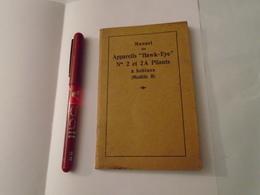 """MANUEL DES APPAREILS """" HAWK EYE """" N° 2 Et 2A Pliants à Bobines (Modèle B), KODAK PATHE PHOTOGRAPHIE - Supplies And Equipment"""