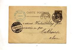 Carte Postale 10 Commerce Cachet Nancy Mulhouse - Entiers Postaux