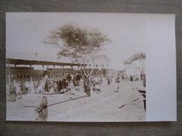Rare Photograph Tarjeta Postal - Chile Chili - Unknown Location - Train Station Tren Estación Passegers Platform - Chili