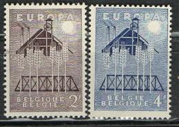 PIA - CEPT - 1957 - BELGIQUE  - (Yv 1025-26) - 1957