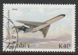 Zambia 1992 Airplanes  K40 Multicoloured SW 609 O Used - Zambia (1965-...)
