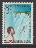 Zambia 1964 Independence 3p Multicoloured SW 15 **MNH - Zambia (1965-...)