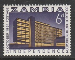Zambia 1964 Independence 6p Multicoloured SW 16 **MNH - Zambia (1965-...)