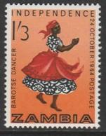 Zambia 1964 Independence 1sh'3p Multicoloured SW 17 **MNH - Zambia (1965-...)