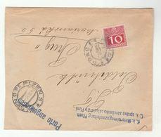 1916? PILZEN To PRAG  POSTAGE DUE Stamp COVER 'Porto Angewiesen' Post Marking From Materialmagazinsleitung Czech Austria - 1850-1918 Empire