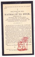 DP Nathalie De Buck ° Oedelem Beernem 1858 † St.-Laureins 1931 X P. De Vogelaere - Images Religieuses