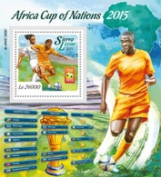 ALGERIA IN STAMPS ALGERIE SUR TIMBRES - SIERRA LEONE 2015 SOCCER AFRICA CUP OF NATIONS COUPE AFRIQUE FOOTBALL FLAGS MNH - Sierra Leone (1961-...)