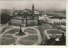 DRESDEN BLICK VOM SCHLOSSTURM AUF THEATERPLATZ VOR 1945 - Dresden
