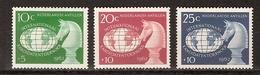 Netherlands Nederlandse Antillen 330-332 MNH; Schaken, Play Chess, Jouer Aux Echecs, Jugar De Ajedrez 1962 - Schaken