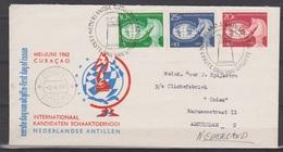 Netherlands Nederlandse Antillen 330-332 FDC ; Schaken Play Chess Jouer Aux Echecs Jugar De Ajedrez 1962 First Day Cover - Schaken
