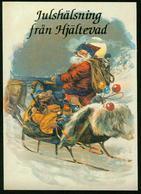 AKx Weihnachtsgrüsse Aus Hjältevad Schweden - Weihnachtsmann Im Schlitten Jul-tomte Geschenke - Santa Claus