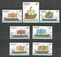 Vietnam 1987 , Used Stamps Ships - Viêt-Nam