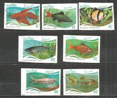 Vietnam 1988 , Used Stamps  Imperf. Fishs - Vietnam