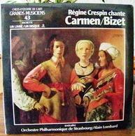 33 TOURS N°43 VINYLE GRANDS MUSICIENS 1 LIVRE+1 DISQUE 1990 RÉGINE CRESPIN CHANTE CARMEN DE BIZET ORCHESTRE P - Serbon63 - Classical