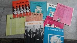 Lot 9 Revues Jeannette 1959 Jeux Conseils BD Guide De France Scoutisme Scout Rare - Théatre & Déguisements