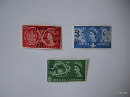 QATAR 1957. Queen Elizabeth II. World Scout Jubilee Jamboree. Set Of 3 Stamps. SG 16-18. MH - Qatar
