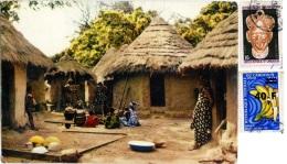 CAMEROUN  CAMEROON  Village Africain  Nice Stamps - Camerun